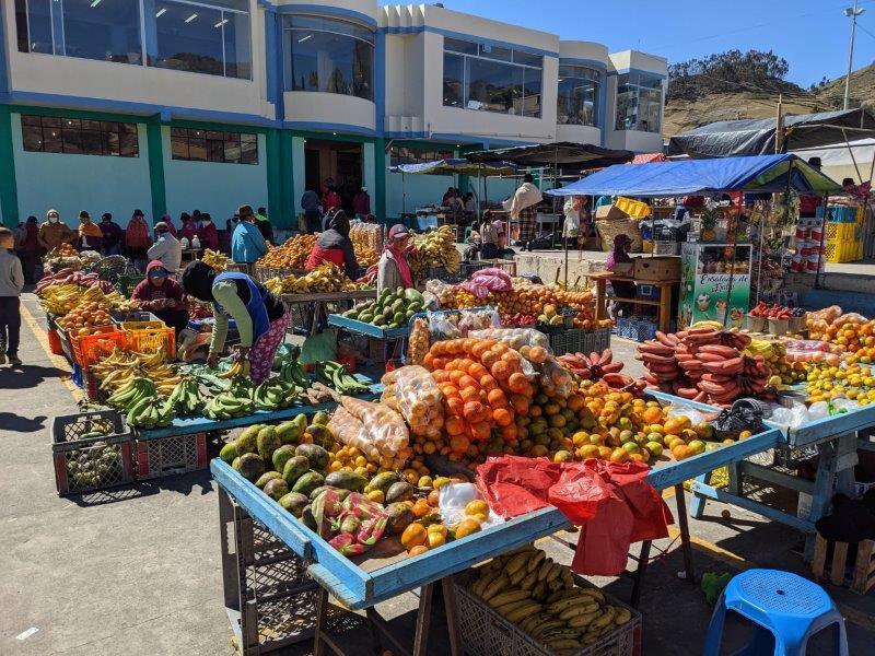 voyage en famille equateur marché fruits légumes