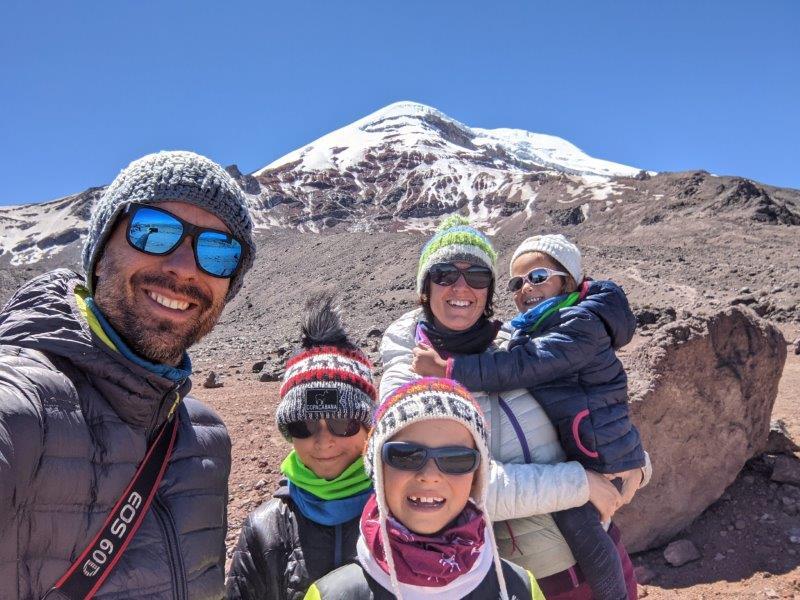 voyage en famille equateur volcan chimborazo