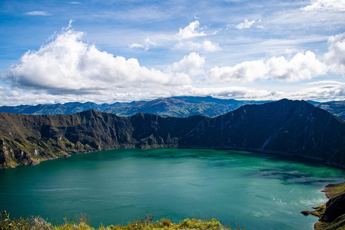 Equateur voyage famille laguna quilotoa