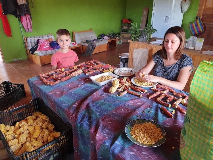 voyage equateur en famille préparation repas