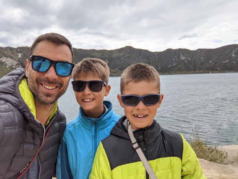 randonnées boucle quilotoa famille lagune