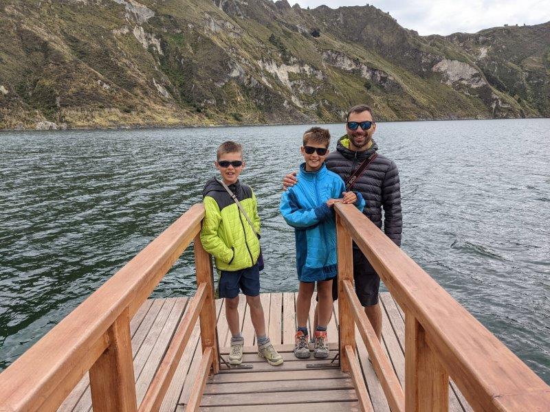 randonnées boucle quilotoa famille laguna