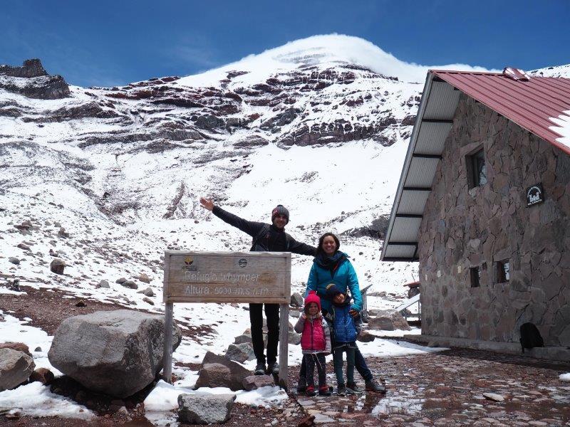 voyage equateur famille camping enfants volcan chimborazo