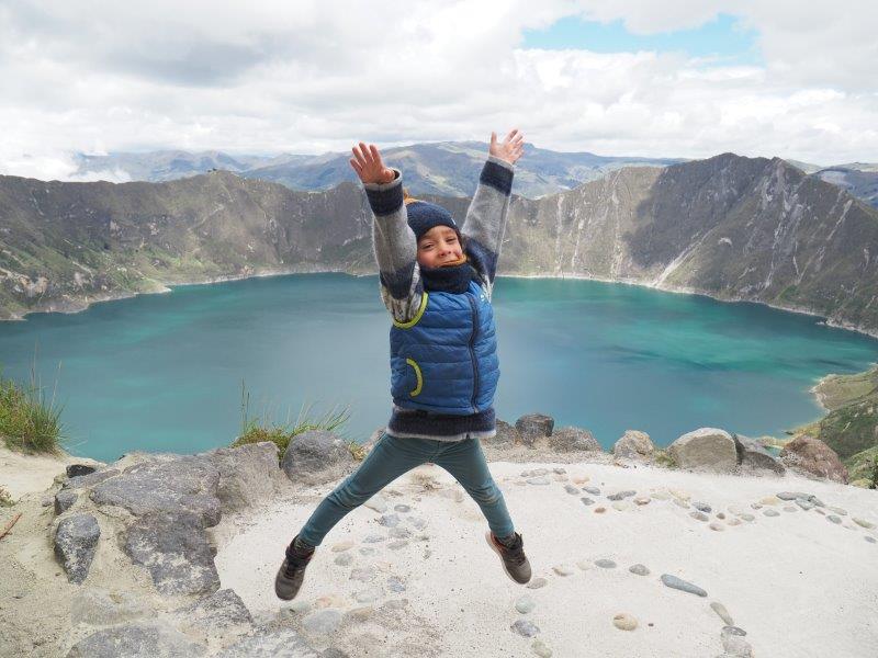 voyage equateur famille camping enfants quilotoa