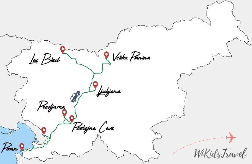 itinéraire 1 semaine slovénie voyage en famille
